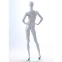 Faceless etalagepop dame glossy wit GLW6