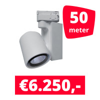 LED Railverlichting Ledimo 5 Wit 50 spots + 50M rails