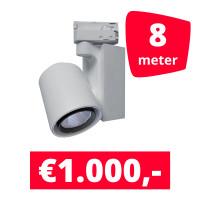 LED Railverlichting Ledimo 5 Wit 8 spots + 8M rails