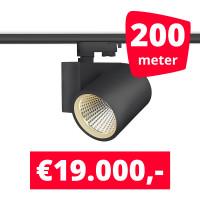 LED Railverlichting Stella Black 200 spots + 200M rails