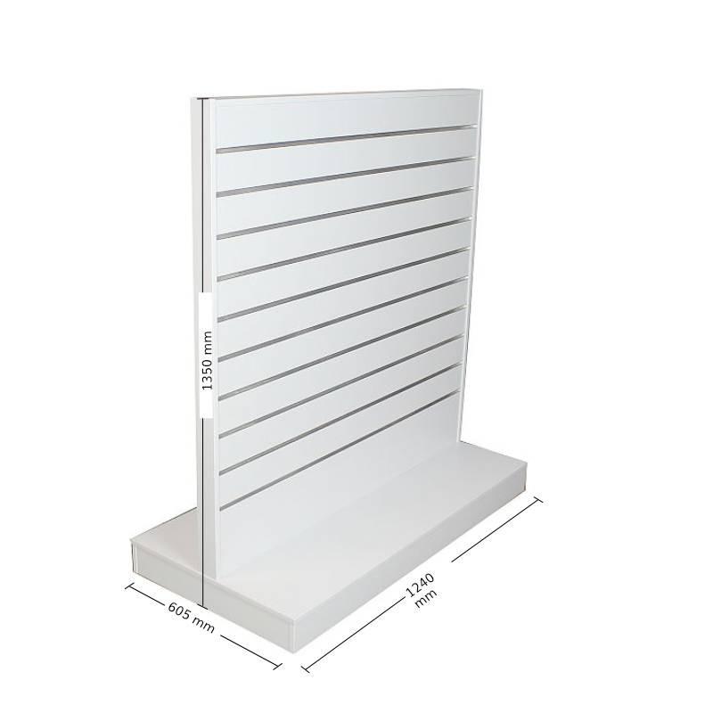Slatwall Displayrek-1200 wit SL62135