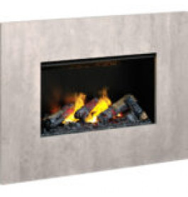 Dimplex Nissum concrete L wandframe betonlook