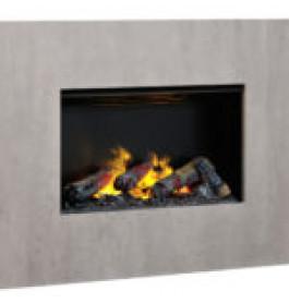 Dimplex Nissum black L wandframe betonlook
