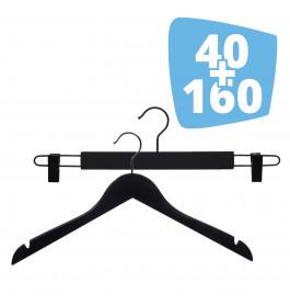 40X Ema 42cm + 160X Helena 44cm Black