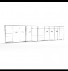 Bigshop kit8818 - H2400 - 10 span - wit met 42 witte glossy planken