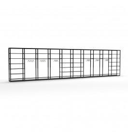 Bigshop kit8818 - H2400 - 10 span - wit met 42 zwarte glossy planken