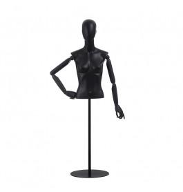 Torso 1/2 dame GAGA zwart met houten armen