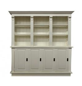 Winkelkast wit 200 cm breed met deurtjes