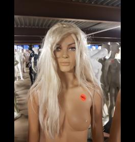 Gebruikt damespoppen etalagepoppen incl. pruik blond lang