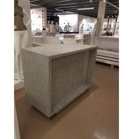 Moderne toonbank showroommodel 140 cm breed  100 cm hoog  60 cm diep