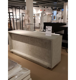 Excentric toonbank beton grijs C-PEC-016 240 cm breed