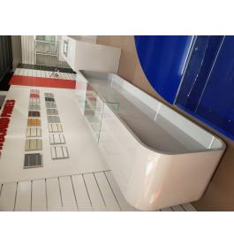Super high glossy toonbank LICHTGRIJS 310 cm