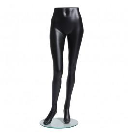 Dames benen zwart merk Gruppo Corso met voetplaat