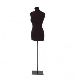 Originele damesbustes zwart met zwarte dop uit Milaan inclusief zware zwarte poot