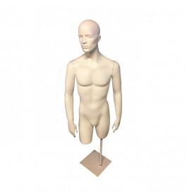 Gebruikte torso man 3/4 model met hoofd van glasvezel incl. poot