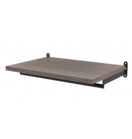 Solo confectiestang + plankdragers 60 cm mat zwart 4146C