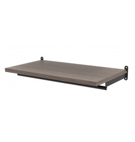 Solo confectiestang + plankdragers 90 cm mat zwart 4146B
