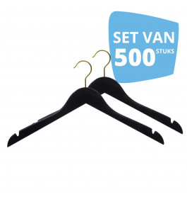 500X Hanger Helena 44cm Black with Gold hook