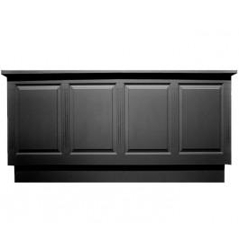 Zwarte toonbank van 250 cm breed