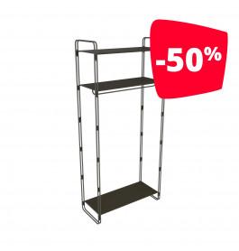 Magöt Robuust Bouwstaal Kledingrek 7100 met 3 metalen planken en kledingstang