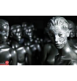 Damesfiguren grijs gestyleerd van exclusief A-merk ipv 780 euro!NU 150 euro!!!