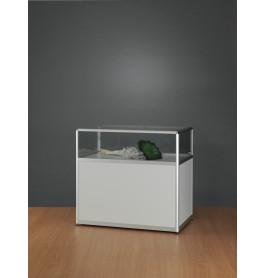 Luxe vitrinekast aluminium 108,4 cm met blok