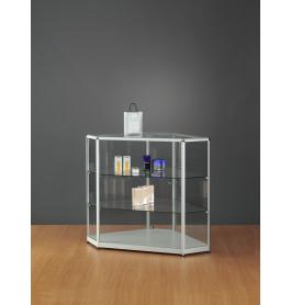 Luxe vitrinekast aluminium 108,4 cm met hoeken