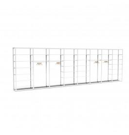 Bigshop kit8819 - H2400 - 8 span - wit met 36 witte glossy planken