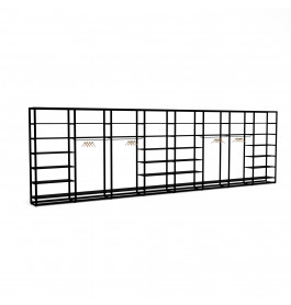 Bigshop kit8819 - H2400 - 8 span - wit met 36 zwarte glossy planken
