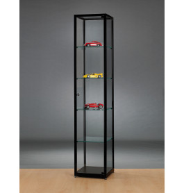 Luxe vitrinekast zwart 40 cm