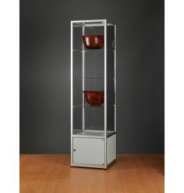 Luxe vitrinekast aluminium 50 cm met onderkast