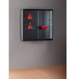 Luxe vitrinekast zwart 100 cm