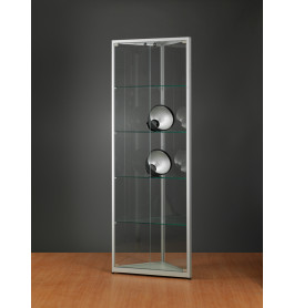Luxe vitrinekast hoek aluminium 50 cm