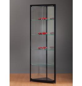 Luxe vitrinekast hoek zwart 50 cm
