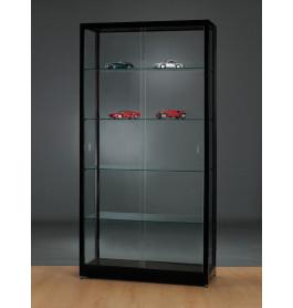Luxe zwarte vitrinekast 100 cm breed