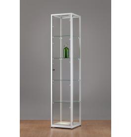 Luxe vitrinekast aluminium 40 cm met draaideur
