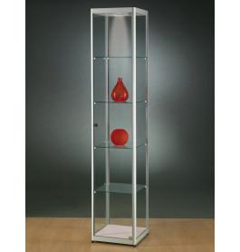 Luxe vitrinekast aluminium 40 cm met led verlichting