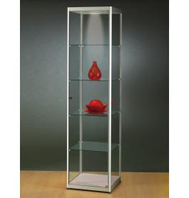 Luxe smalle vitrinekast aluminium 50 cm