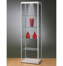 Luxe glazen vitrinekast aluminium 60 cm