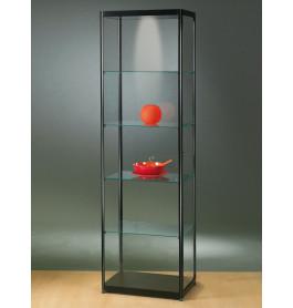 Luxe glazen vitrinekast zwart 60 cm