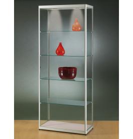 Luxe vitrinekast hoog aluminium 80 cm