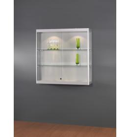 Luxe vitrinekast aluminium 100 cm wandkast
