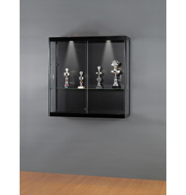 Luxe vitrinekast zwart 100 cm wandkast