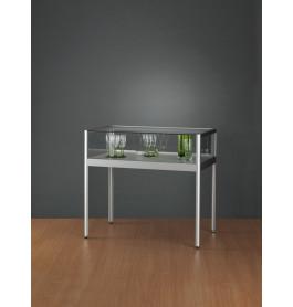 Luxe vitrinekast laag aluminium 100 cm