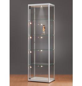 Luxe vitrinekast aluminium 60 cm met halogeen verlichting