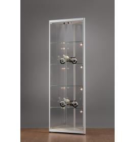 Luxe vitrinekast hoek aluminium 50 cm met verstelbaar halogeen verlichting in plafond
