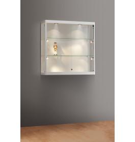 Luxe vitrinekast aluminium 100 cm wandkast met verstelbaar led  verlichting