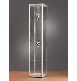 Luxe vitrinekast aluminium 40 cm met LED-verlichting