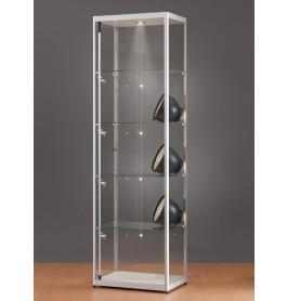 Luxe vitrinekast aluminium 60 cm met LED-verlichting