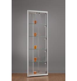 Luxe vitrinekast hoek aluminium 50 cm met LED-verlichting